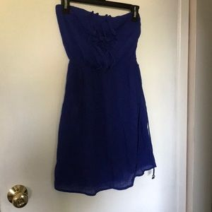 Royal blue strapless dress small